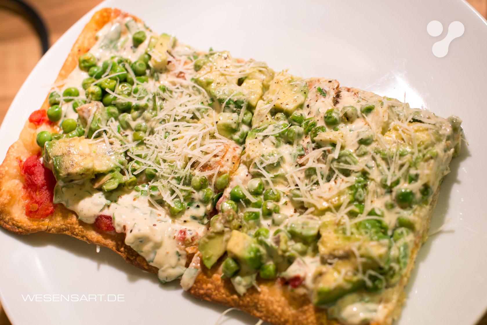 Frische Erbsen-Avocado-Tart